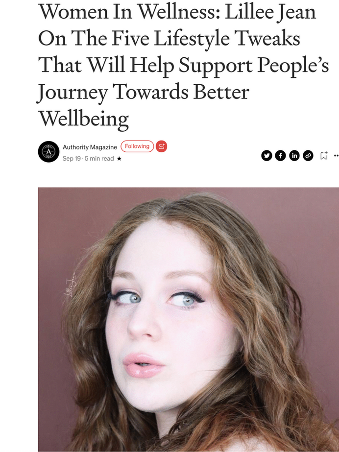 Women In Wellness - MEDIUM INTERVIEW - Lillee Jean