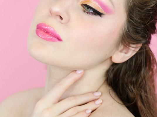 Essence Hey LA Pink & Yellow Summer Cut Crease Makeup Tutorial 2020 | Lillee Jean
