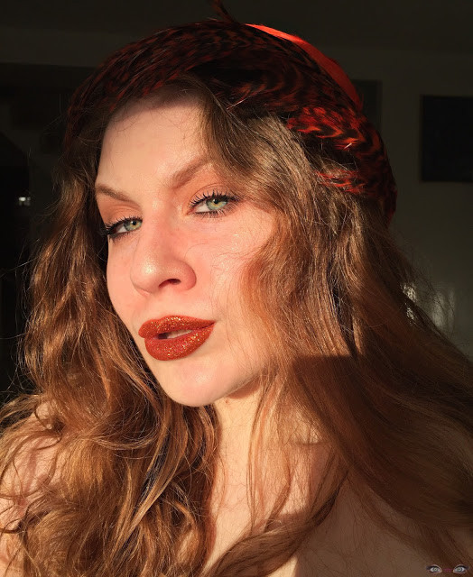 Wearable Flaming Copper Glitter Lips w/ Smokey Matte Shadow 2017 | Lillee Jean