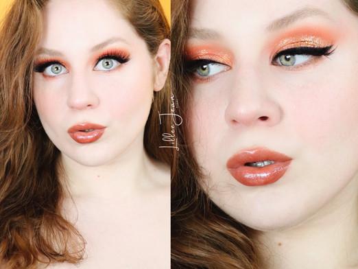 Too Faced Light My Fire Orange Glitter Makeup Tutorial 2021 | Lillee Jean