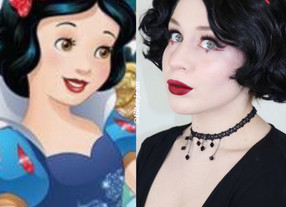 Edgy Snow White Burgundy Eyeliner Makeup Tutorial Disney 2020 | Lillee Jean