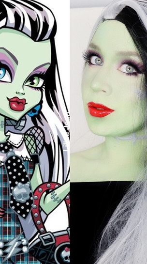 MONSTER HIGH FRANKIE STEIN Cosplay MAKEUP Tutorial Halloween 2020 | Lillee Jean