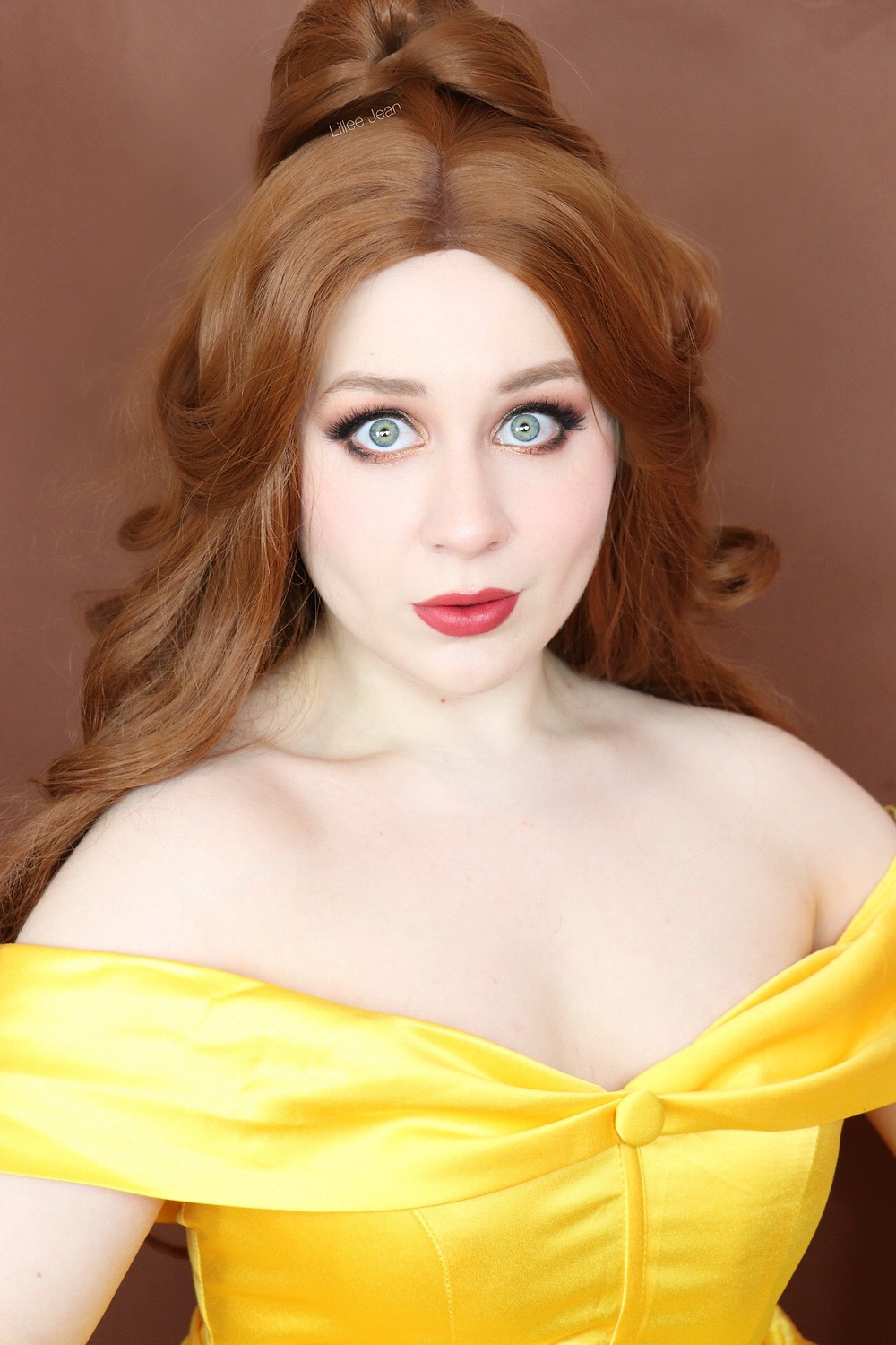 Disney Princess BELLE Beauty and the Beast SOFT GLAM Makeup Tutorial 2020 | Lillee Jean
