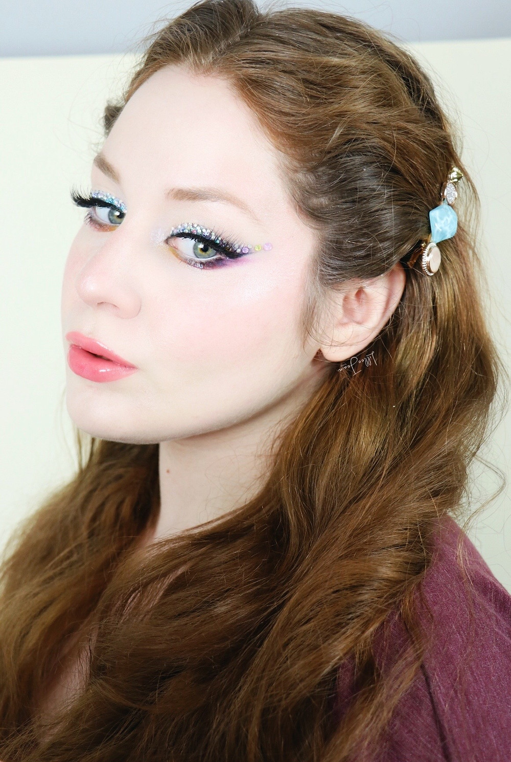 L.A. Girl Desert Dream Colorful RHINESTONE Makeup Tutorial 2021 | Lillee Jean
