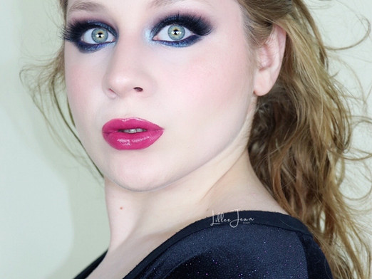 Sephora Pro Editorial 2.0 SMOKEY BLUE New Years Glam Makeup Tutorial 2020 | Lillee Jean