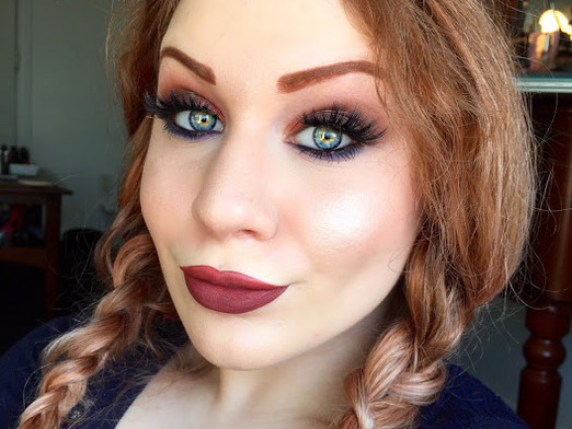 Transition Into Autumn: Shimmering Rust With A Pop of Navy Makeup Tutorial