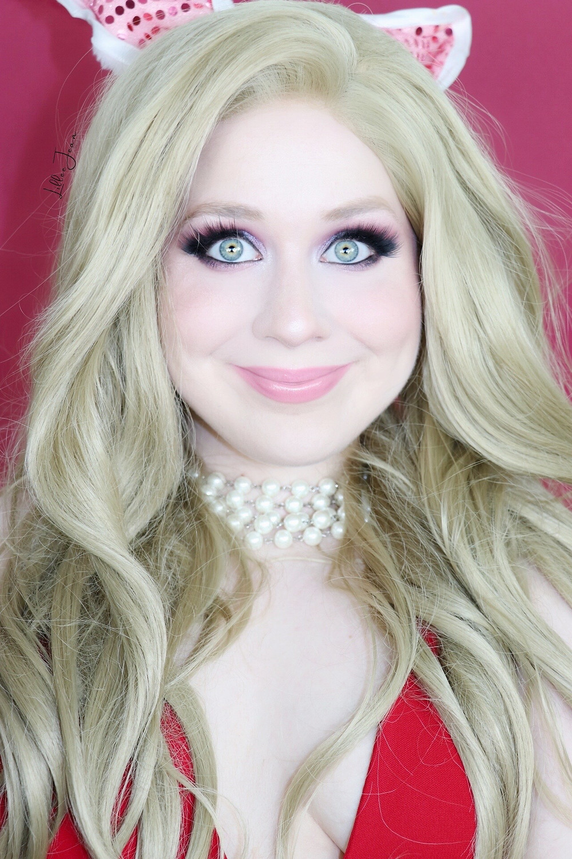 Disney MISS PIGGY Muppets Purple GLAMOROUS Valentines Day Makeup Tutorial 2021   Lillee Jean