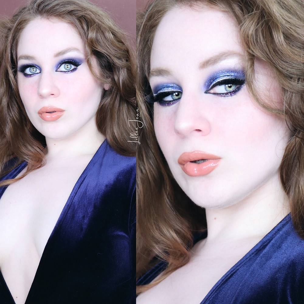 Blue Glitter Halo Eyeshadow | Makeup  Revolution Tutorial 2021 | Lillee Jean