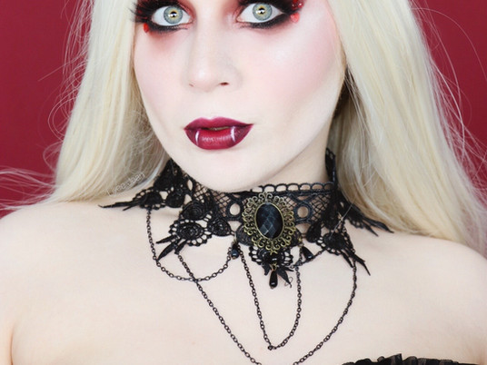 VAMPIRE QUEEN Huda Beauty Nude Obsessions RED Creative HALLOWEEN Makeup Tutorial 2020 | Lillee Jean