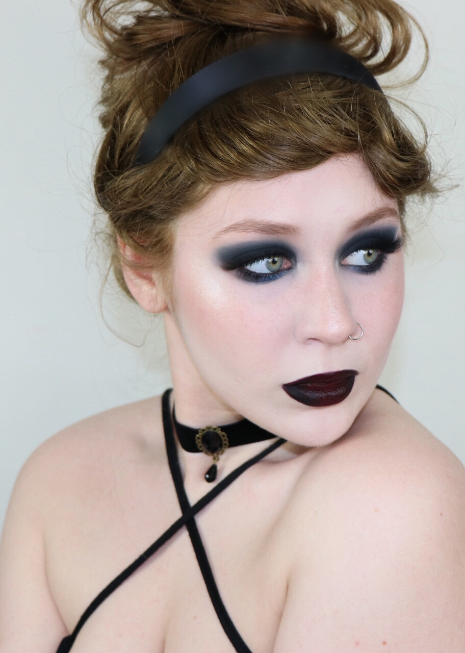 Goth Cinderella Dramatic Black Smokey Eye Disney Makeup Tutorial 2020 | Lillee Jean