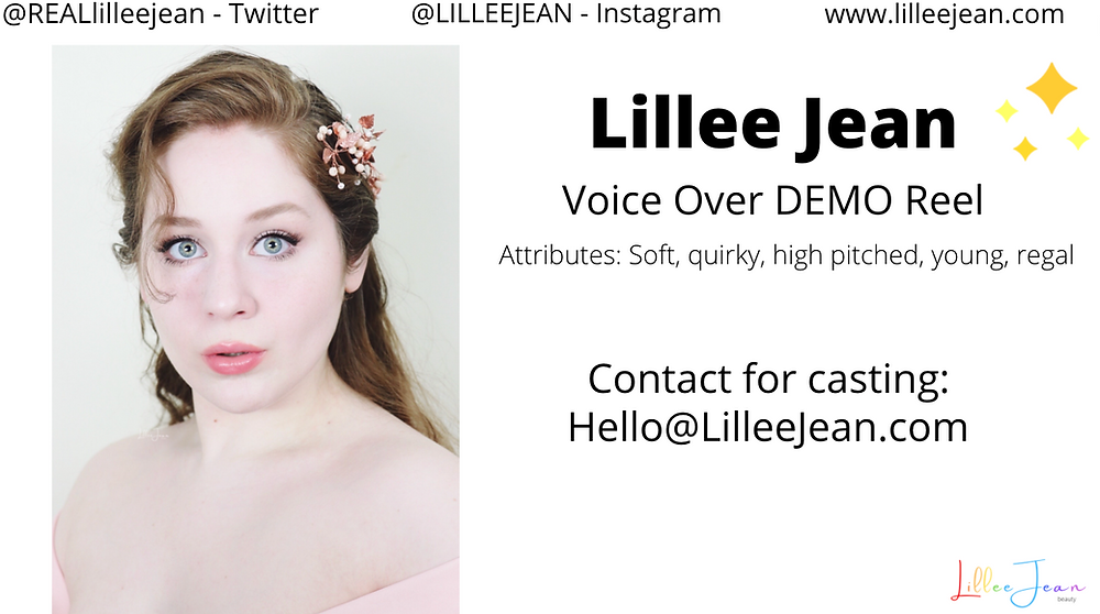 Lillee Jean Voice Over ACTING Demo Reel   Animation, Action, Cartoon   New York