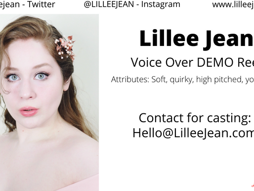 Lillee Jean Voice Over ACTING Demo Reel | Animation, Action, Cartoon | New York