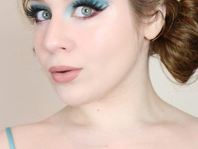 NARS Extreme Effects OCEAN BLUE CUT CREASE RhineStone Makeup Tutorial 2020 | Lillee Jean