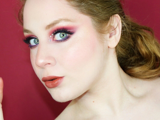 Too Faced Gingerbread Spice PINK STAR Rhinestone Cut Crease Makeup Tutorial 2020 | Lillee Jean