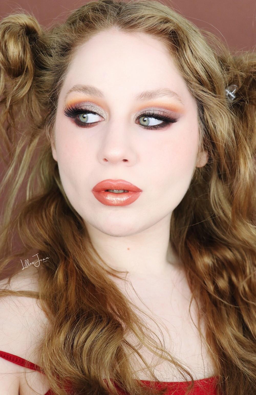 Kaja Tiger Eyes GREEN Orange New Years Makeup Tutorial 2020 | Lillee Jean