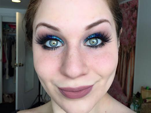 Glamorous Glittering Turquoise & Vivid Royal Blue Smokey Eye Makeup Tutorial