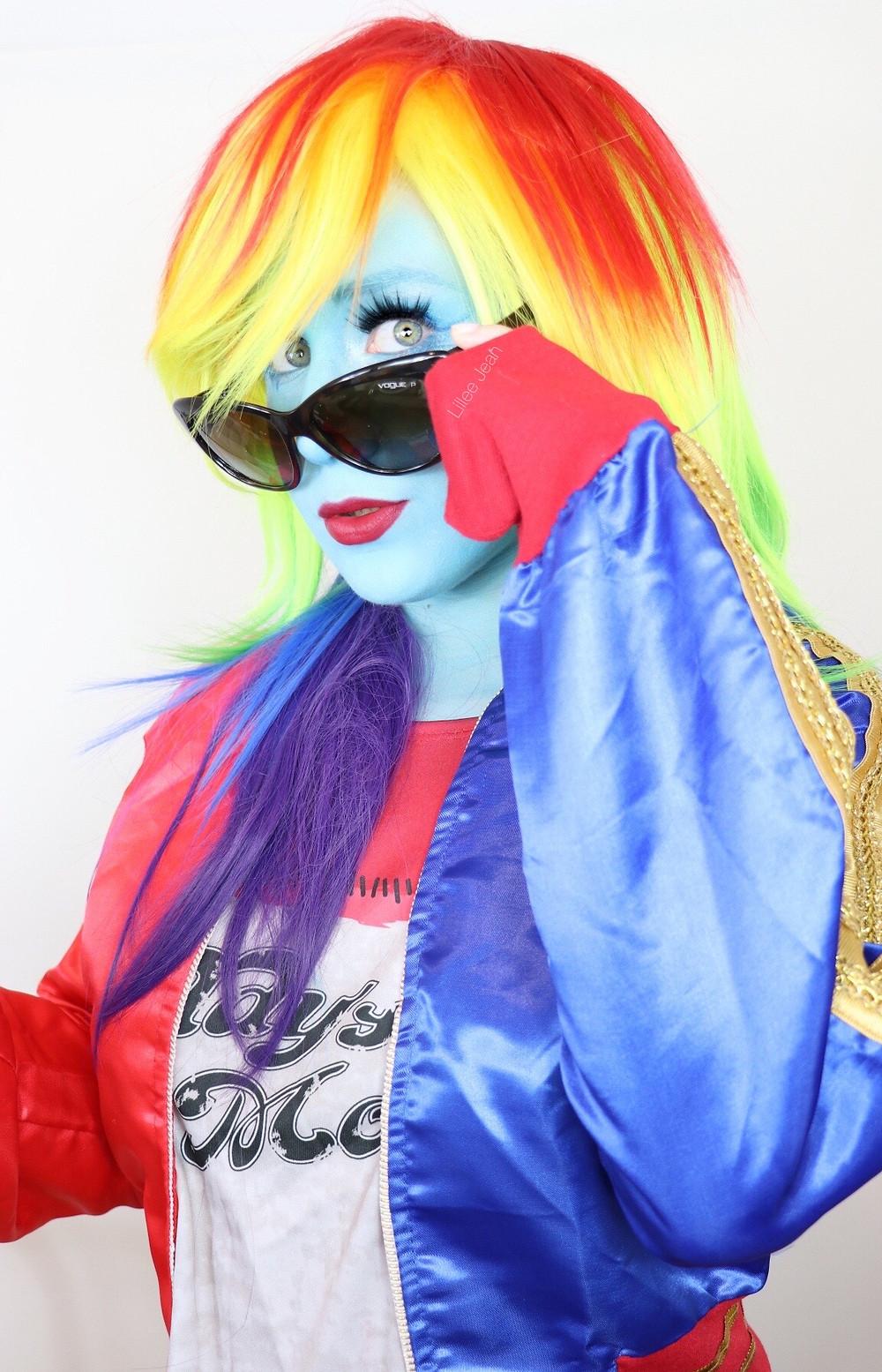 RAINBOW DASH My Little Pony Cosplay Makeup Tutorial 2020 | Equestria Girls | Lillee Jean