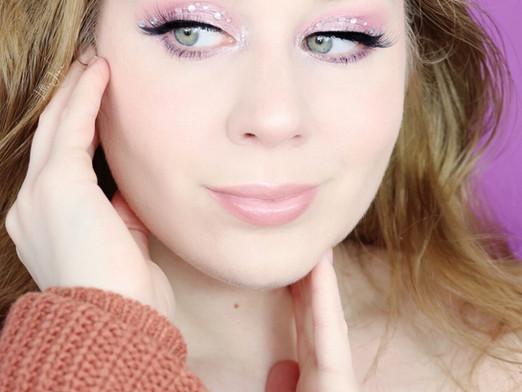 Huda Beauty Mercury RETROGRADE Frosted Purple RHINESTONE Holiday Makeup Tutorial 2020   Lillee Jean