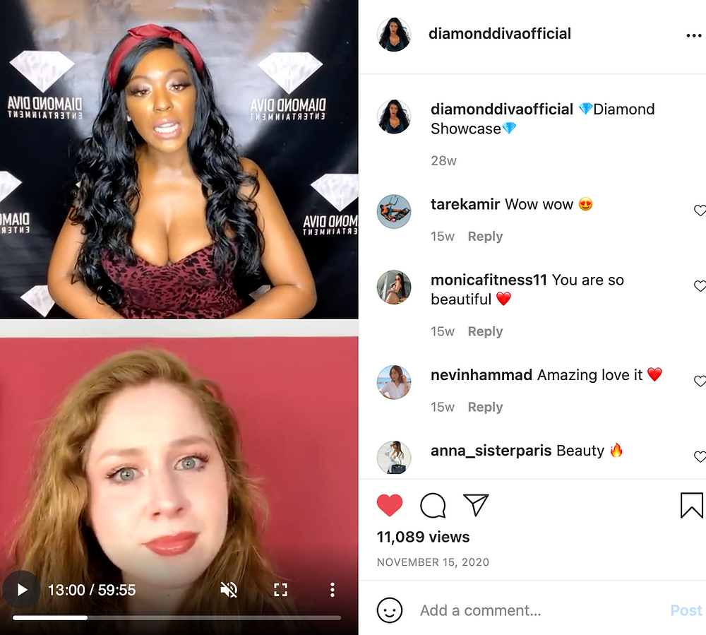 Lillee Jean Interviewed by @diamonddivaofficial on Instagram