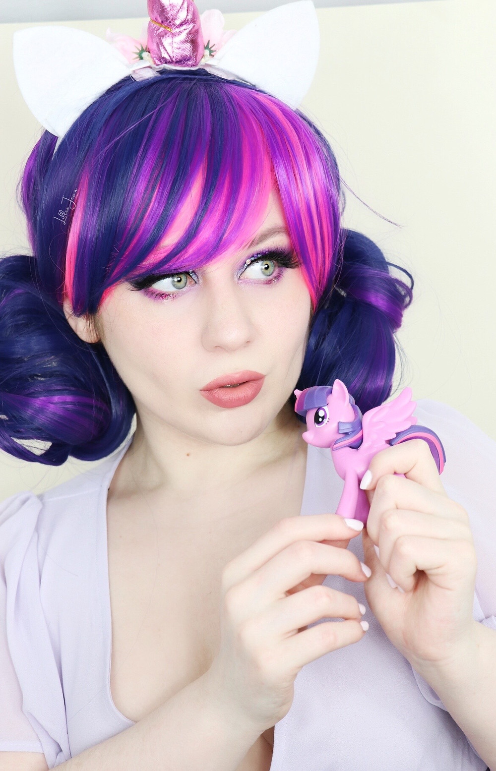 Twilight Sparkle My Little Pony Makeup | HIPDOT Makeup Tutorial 2021 | Lillee Jean