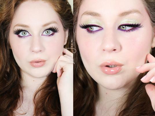 Purple Eyeliner & Green Makeup Tutorial | Revolution Eutopia 2021 | Lillee Jean