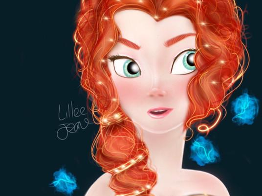 Disney Merida BRAVE Princess Digital Speed Painting 2020 | Lillee Jean