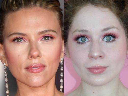 Scarlett Johansson BAFTAS 2020 Pink Eyeshadow Makeup Tutorial | Lillee Jean