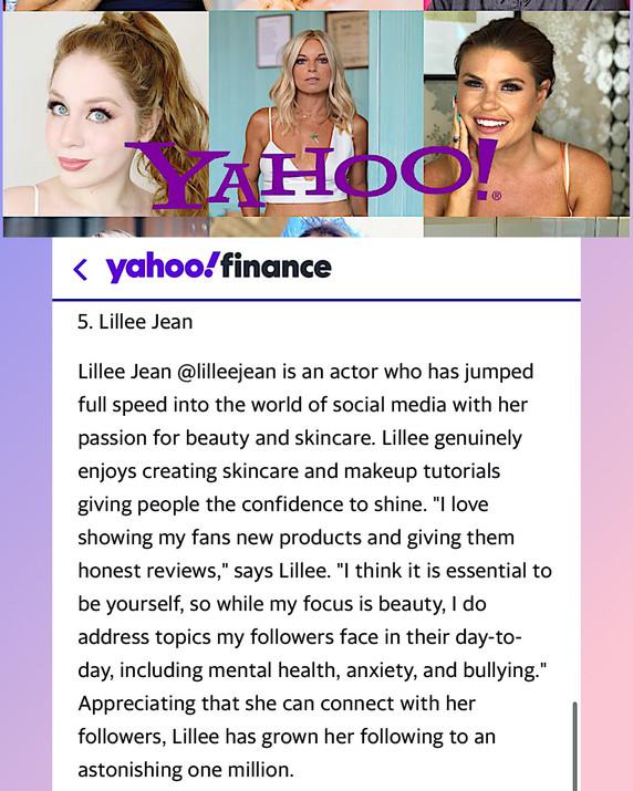 Yahoo Finance Lillee Jean