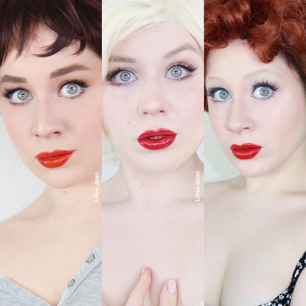 Audrey Hepburn, Marilyn Monroe, Lucille ball