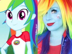 RAINBOW DASH My Little Pony Cosplay Makeup Tutorial 2020 | Equestria Girls | Lillee Jean