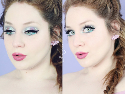 Pisces Zodiac Too Faced That's My Jam Iridescent Teal Purple Makeup Tutorial 2021 | Lillee Jean