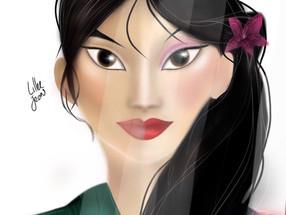 Disney Mulan Reflection Digital Speed Painting 2020 | Lillee Jean