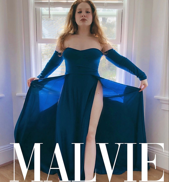 Lillee Jean on Malvie French Magazine Blue Dress Back Cover