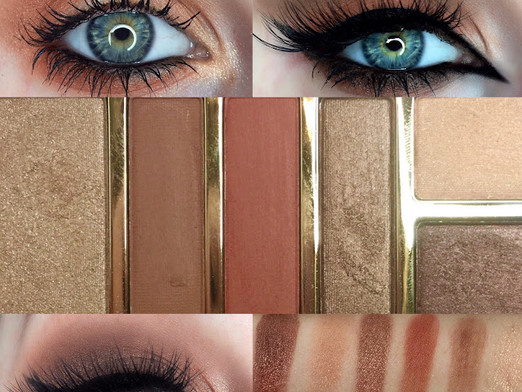 Milani Cosmetics Everyday Eyes Powder Eyeshadow Pallet 05 Earthy Elements Review and Swatches (3 mak