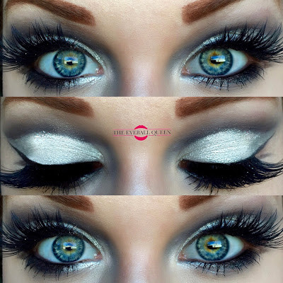 Gothic Black & White Shimmering Soft Cut Crease Makeup Tutorial 2016   Lillee Jean