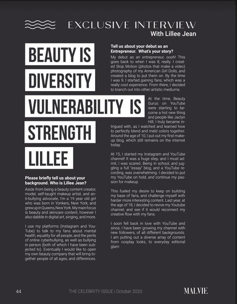 Malvie Magazine Lillee Jean
