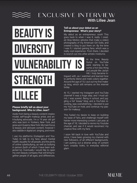 Malvie Magazine Lillee Jean Interview