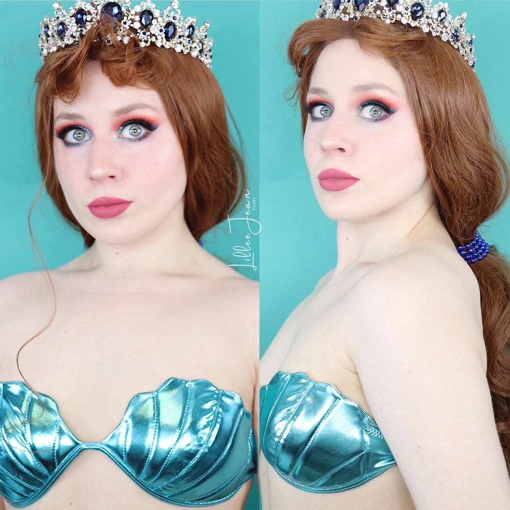 Aquata Ariel's Sister The Little Mermaid Disney Makeup Tutorial Cosplay 2020 | Lillee Jean