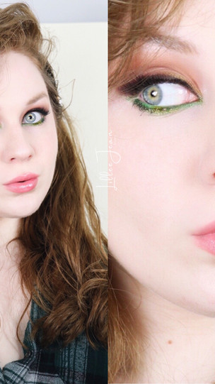 Too Faced Smokey Brown and Green Eyeliner Makeup Tutorial 2021 | Lillee Jean