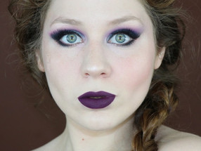 BH Cosmetics Vibrant Purple and Blue Smokey Eye + Dark Purple Lips Makeup Tutorial | Lillee Jean