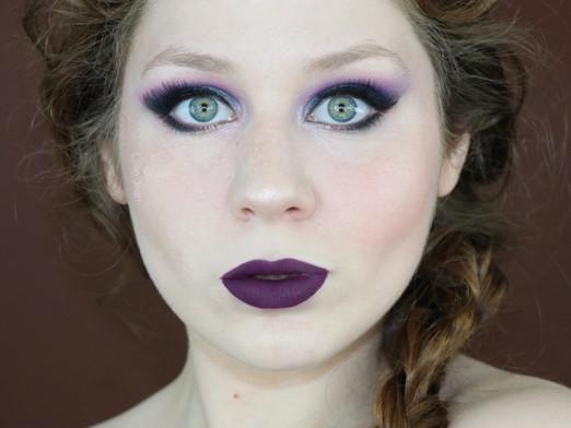 BH Cosmetics Vibrant Purple and Blue Smokey Eye + Dark Purple Lips Makeup Tutorial   Lillee Jean