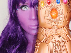 Marvel Thanos Inspired Cosplay Makeup Tutorial Halloween 2020 | Lillee Jean