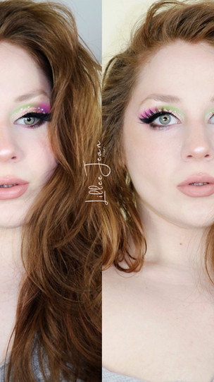 Makeup Revolution Birds of Paradise Green Purple Glittery Makeup Tutorial 2021 | Lillee Jean
