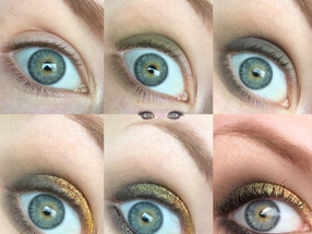 Saint Patricks Day Pot O' Gold Shimmery Green & Copper Makeup Look