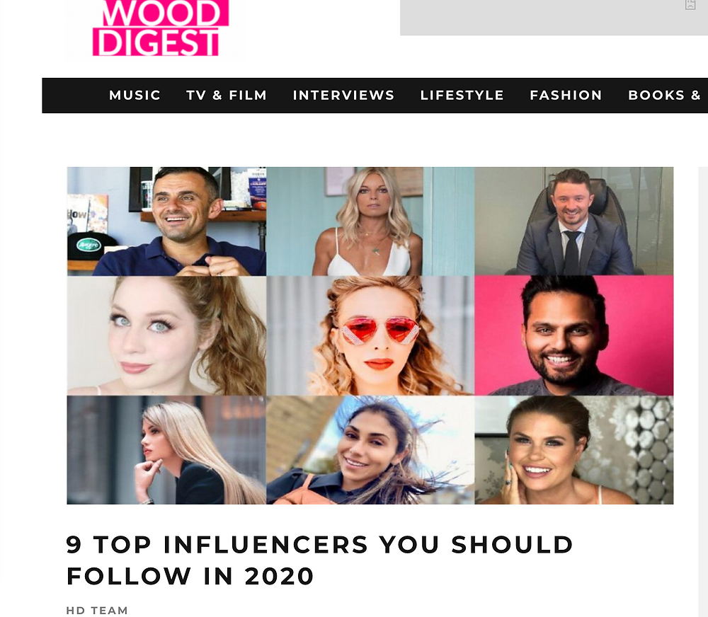Lillee Jean Featured In Hollywood Digest | 9 TOP INFLUENCERS YOU SHOULD FOLLOW IN 2020