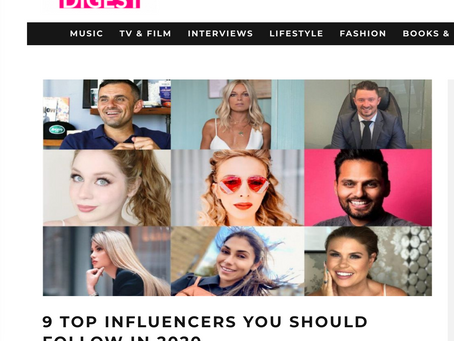 Lillee Jean Featured In Hollywood Digest   9 TOP INFLUENCERS YOU SHOULD FOLLOW IN 2020