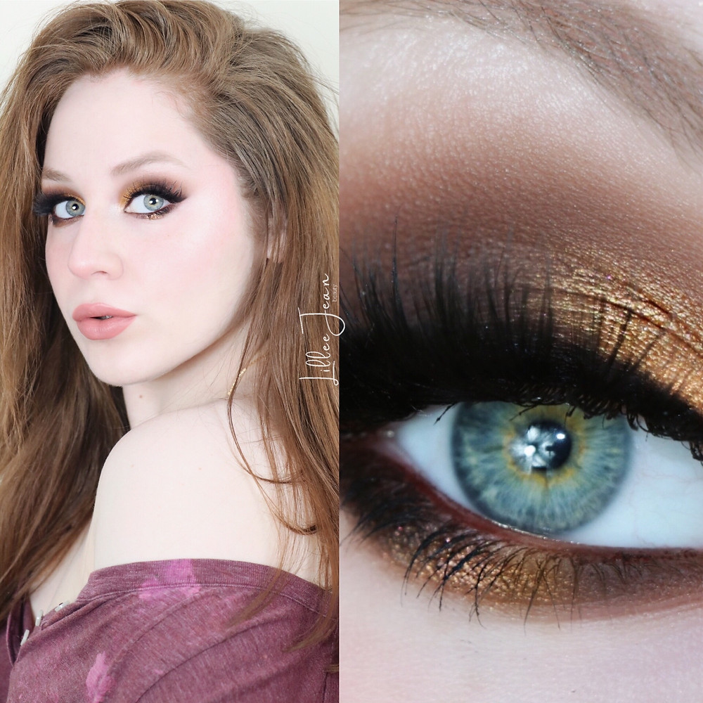 Golden Glam Makeup Tutorial | Too Faced Born This Way 2021 | Lillee Jean
