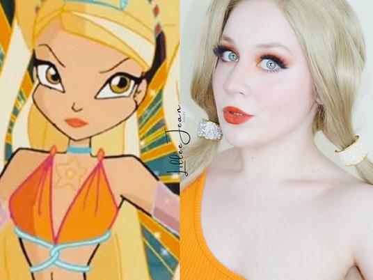WINX Club STELLA Inspired Orange Gold COSPLAY Makeup Tutorial 2020 | Lillee Jean