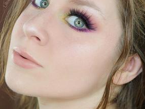 Colourpop She's A Rainbow Palette Purple & Glittery Green Makeup Tutorial