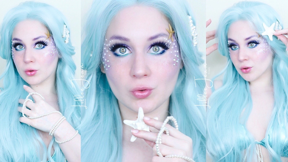 Blue Mermaid HALLOWEEN Makeup Tutorial 2021 | Essence Ciao Venezia | Lillee Jean